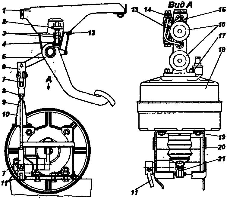 Тормозная схема уаз 3962