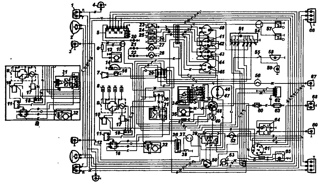 Схема электрооборудования автомобилей семейства УАЗ-31512 (кроме УАЗ-3153)