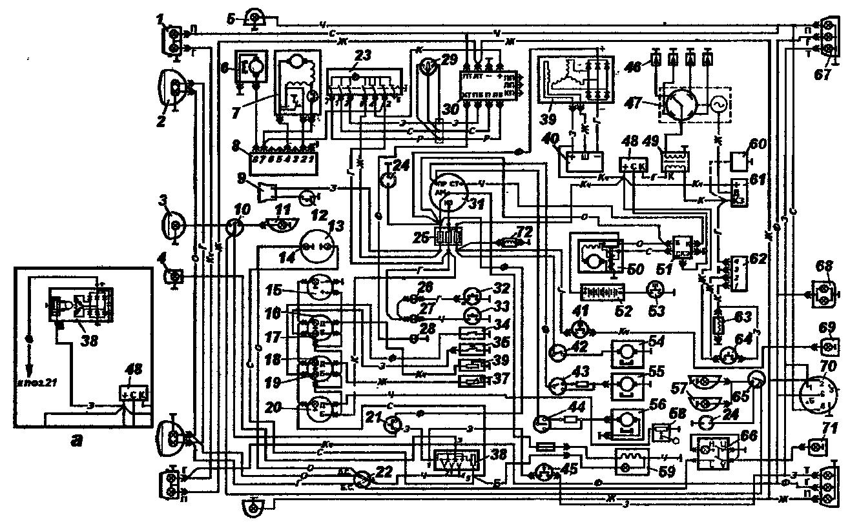 Схема электрооборудования автомобилей УАЗ-3962 и УАЗ-2206