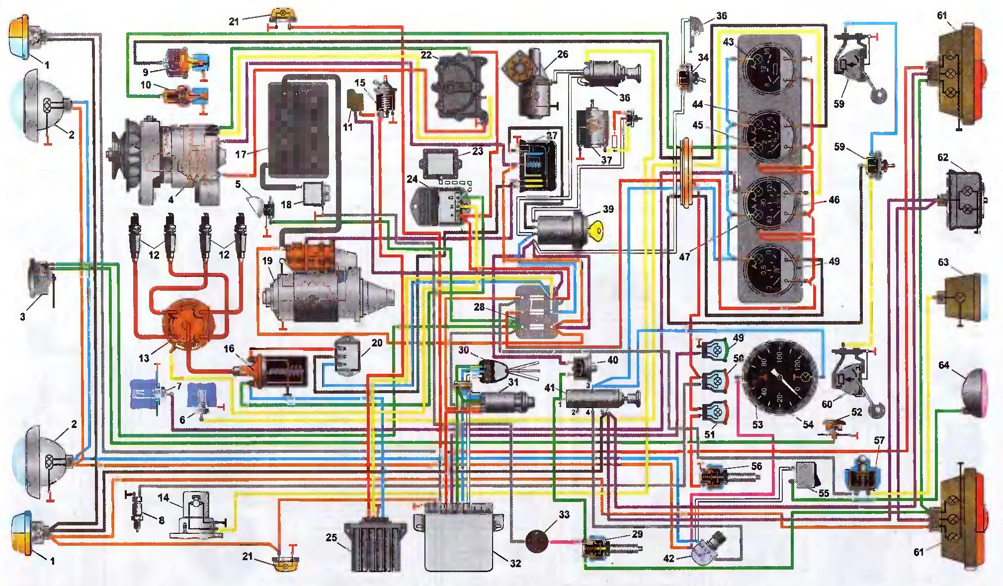 Реле поворотов уаз 469 схема подключения