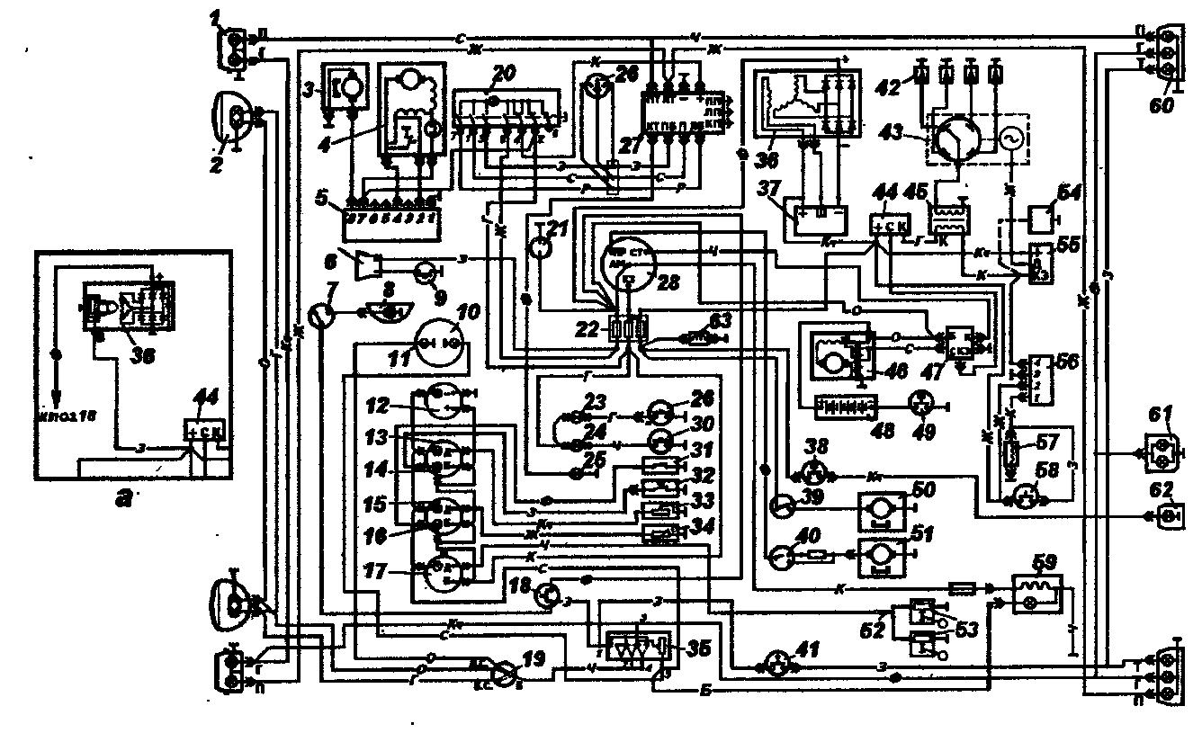 Схема электрооборудования автомобилей УАЗ-3303