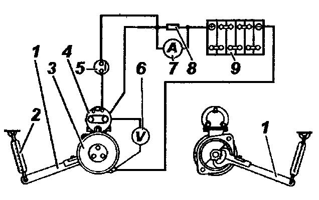 Схема включения стартера для проверки