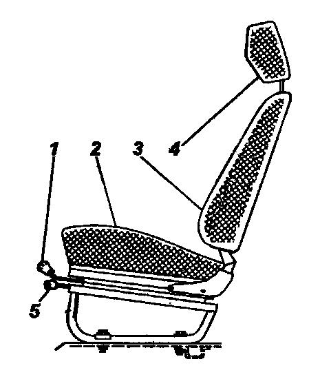 Переднее сиденье с подголовником