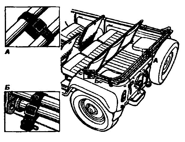 Крепление дуг тента в кузове автомобиля