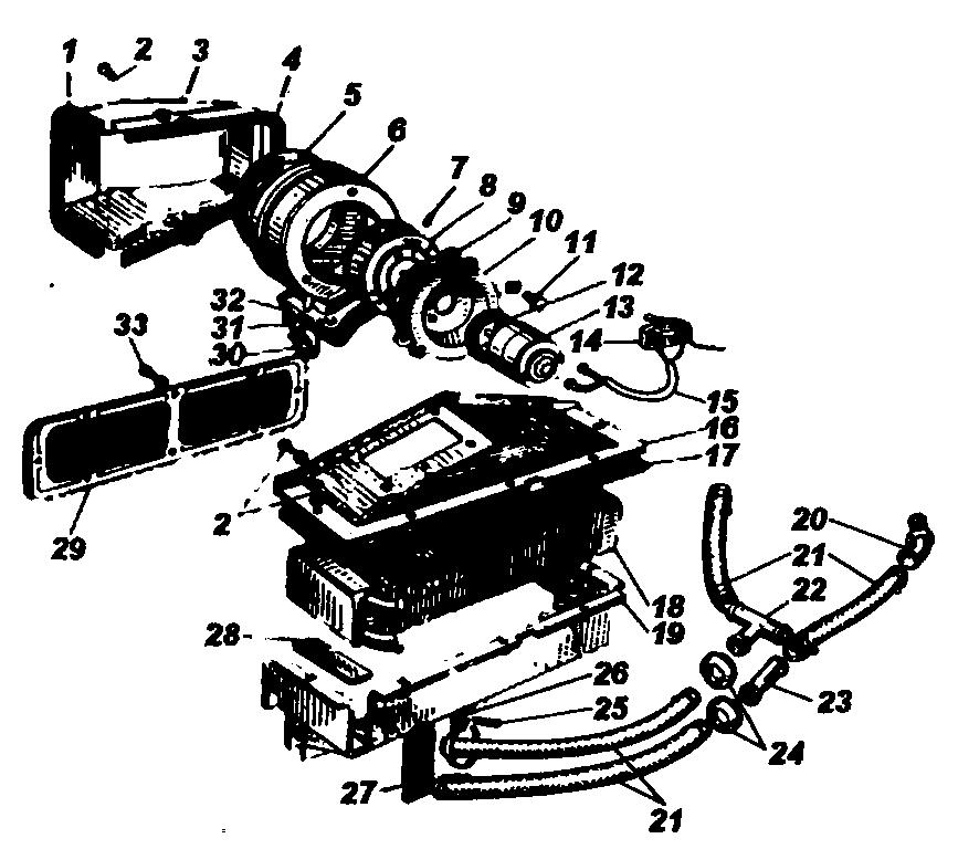 Дополнительный отопитель автомобилей УАЗ-3962, УАЗ-2206, УАЗ-3909