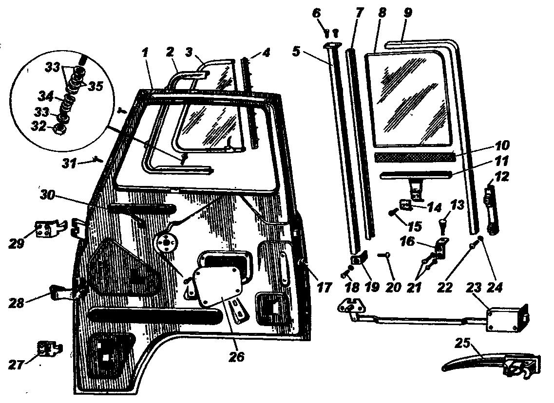 Передняя дверь УАЗ-3741