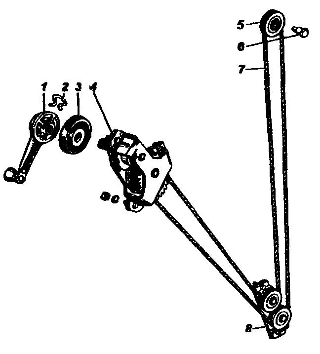 Механизм стеклоподъёмника УАЗ-3741