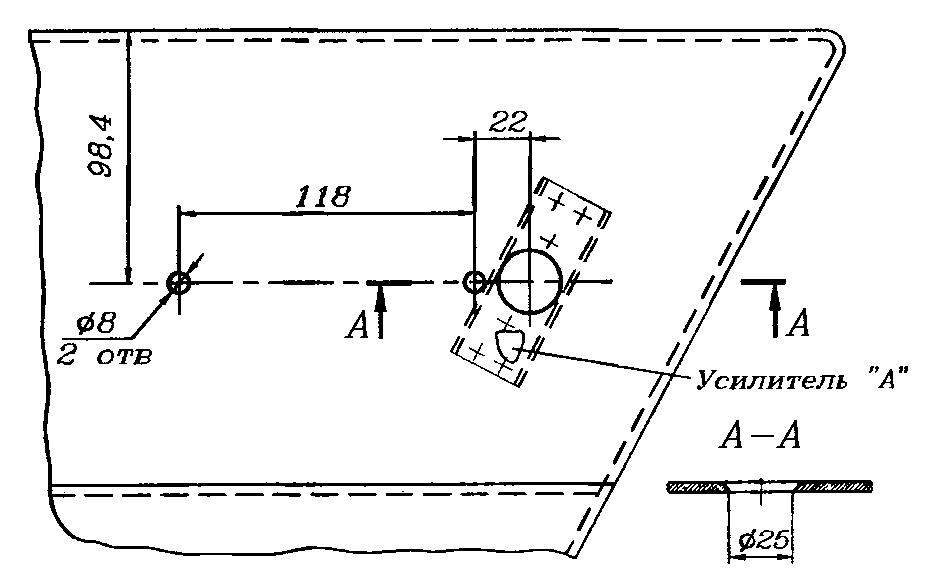 Наружная панель левой двери