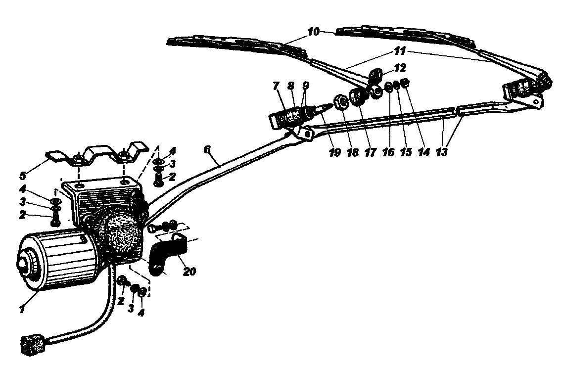 Стеклоочиститель автомобилей семейства УАЗ-31512