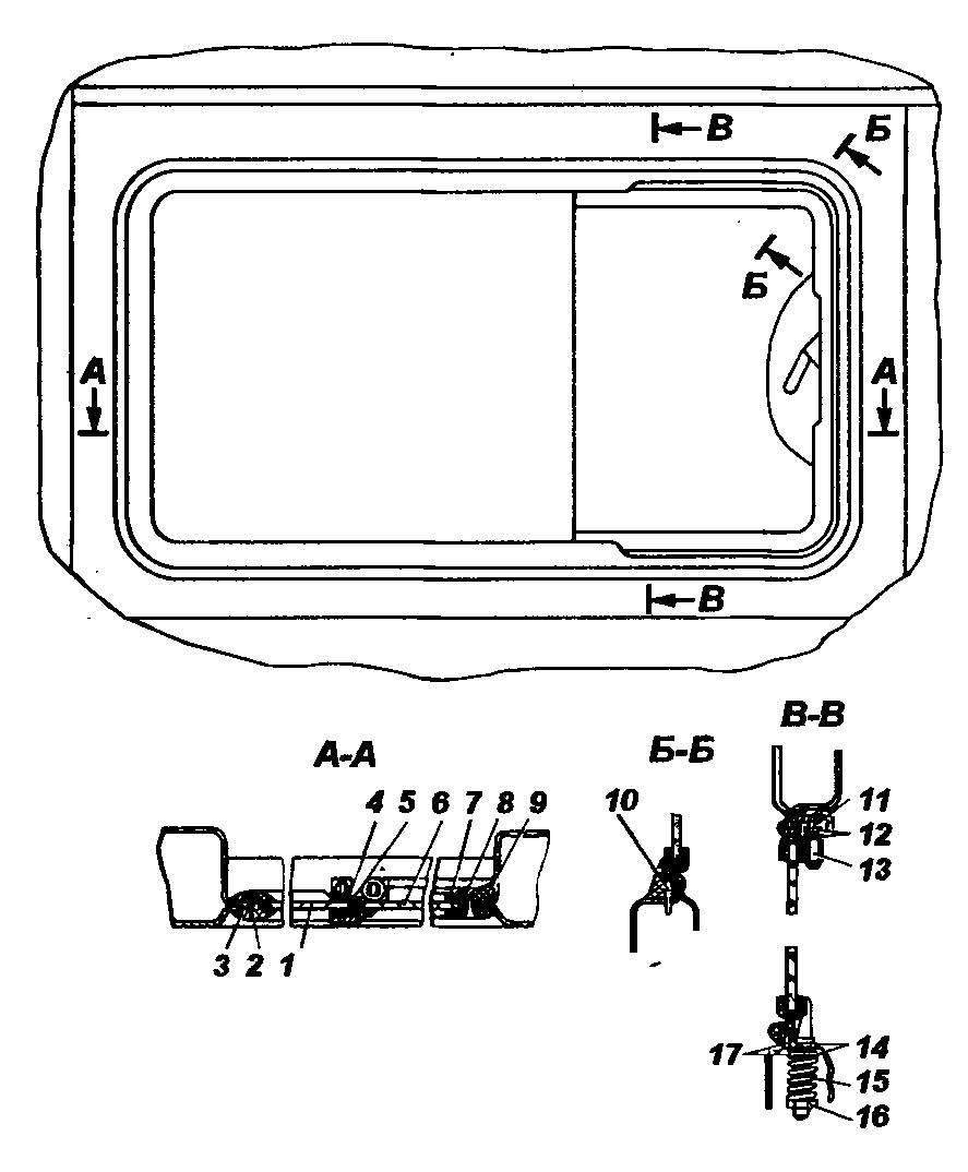 Окно боковины кузова УАЗ-3741
